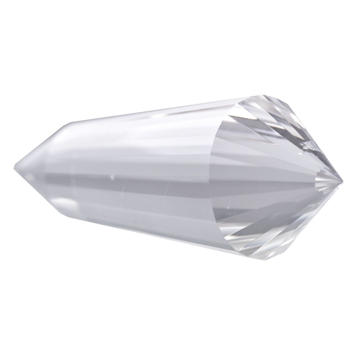 24-Sided Vogel Style Clear Natural Quartz Double Terminated Points 4""