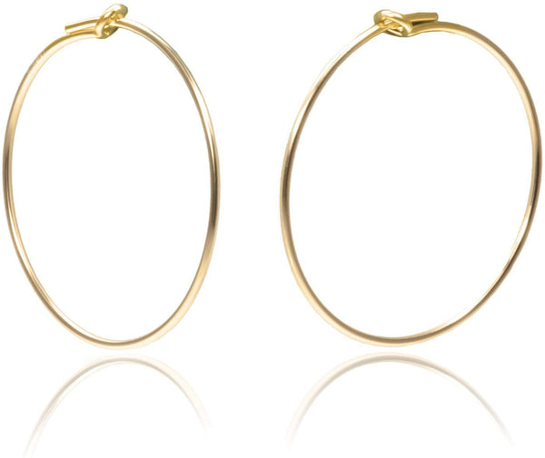 14K Gold Fill Beading Hoop 20mm Qty=6