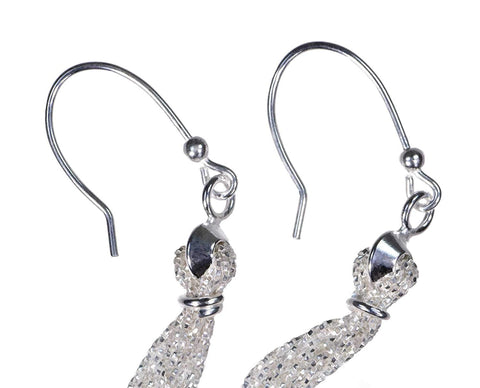 Sterling Silver Chain Tassel Earrings 3 1/2 Inch