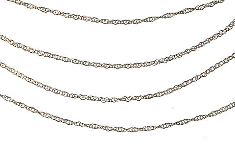 14K Yellow Gold Rope Chain 9R 18 Inch