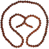 uGems Brown Agate Beads Mala Necklace 28 Inch 7mm