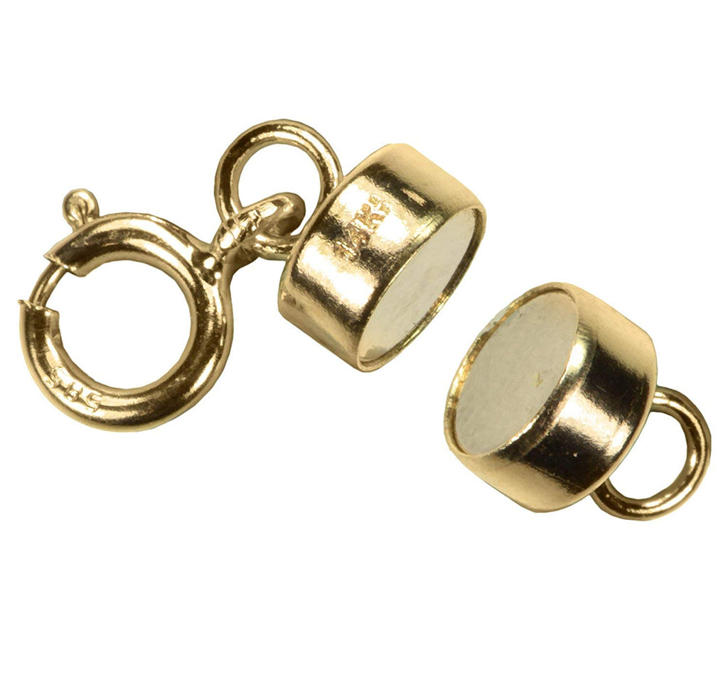 uGems Magnetic Clasp 14k 4.4mm Gold Converter for Necklaces Closed Loops Strong Solid 14kt Tiny (Qty=1)