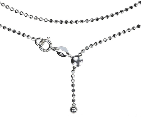 Sterling Silver Adjustable Chain Necklace