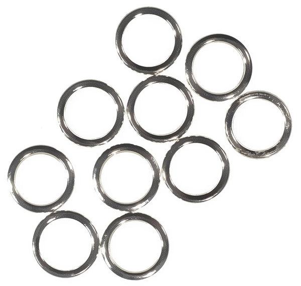 uGems Sterling Silver Closed Jump Ring Round 6mm 20 Gauge (10-pcs)