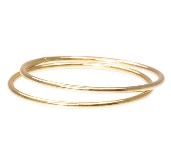 uGems 2 14K Gold Filled Stacking Rings 1mm Round