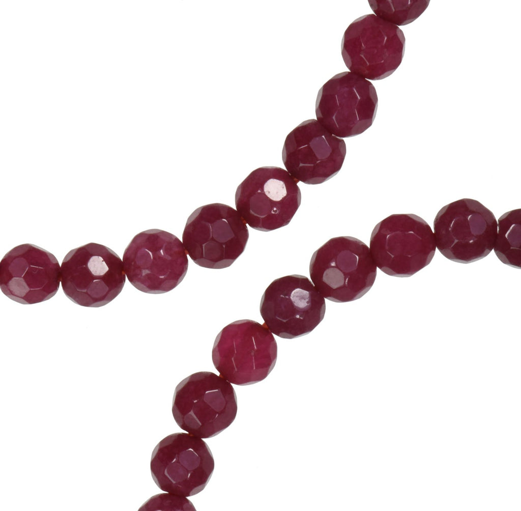 uGems Quartz Simulated Ruby Color Strand Red Dyed