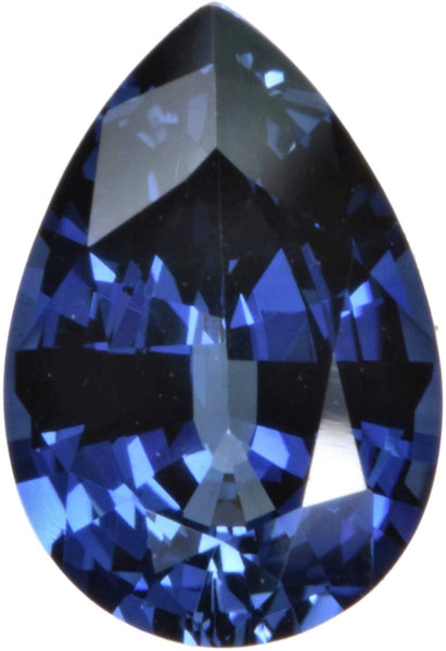 Blue Lab Sapphire Pear Facet Synthetic 4 Carats