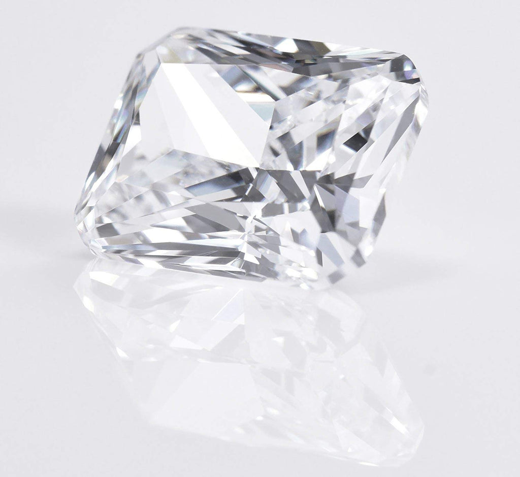 CZ Octagon White Cubic Zirconia Manmade Unset Loose Gem 10mm X 8mm
