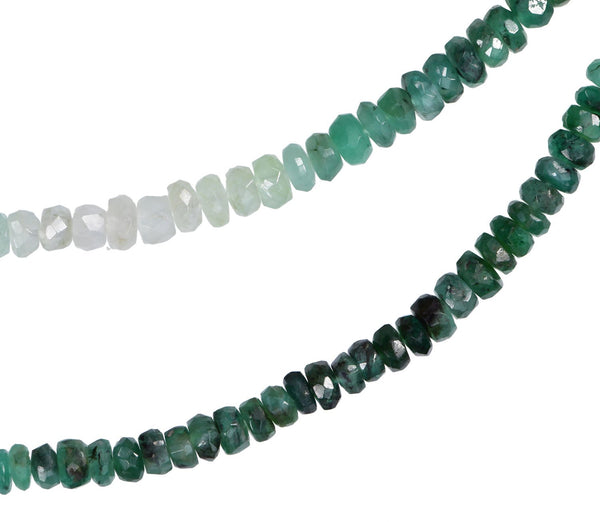 Shaded Emerald 2.8mm-3.2mm Shaded Colors Facet Bead Strand 16 Inch