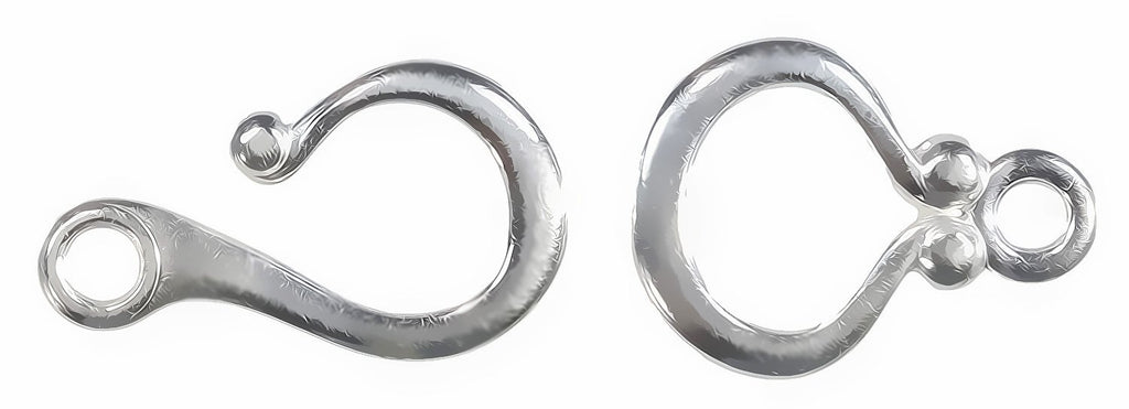 Hook and Eye Clasp Arg Silver 935 18mm