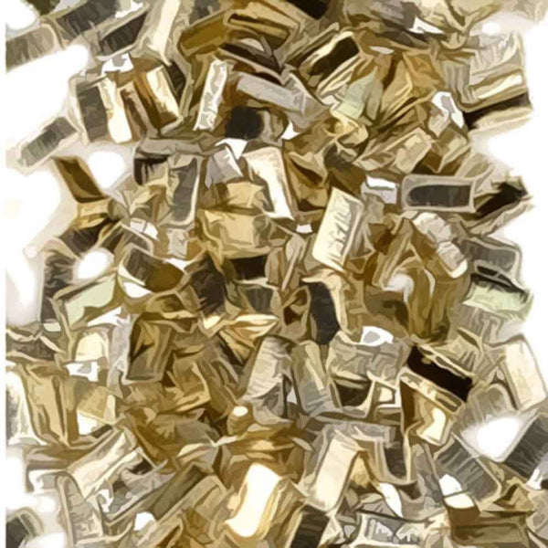 "Yellow Silver Solder Chips Ultra Tiny Precut Pieces 0.5mm X 1mm X .25mm (Qty=1500)""Medium"" Density"