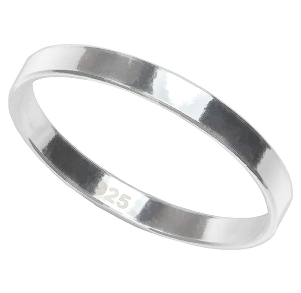 Sterling Silver Flat Ring Stacking