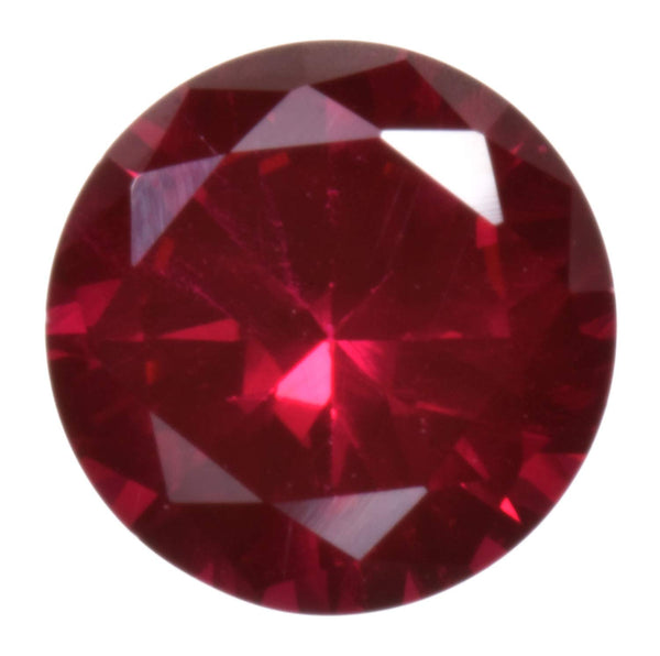 Deep Red Synthetic Ruby 10mm Round Unset Loose Gem Corundum (1)
