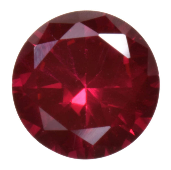 Synthetic Ruby Round 7mm Unset Loose Gem Lab Corundum
