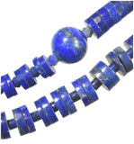 uGems Lapis Lazuli Heishi and Round Graduated Necklace 18 Inch