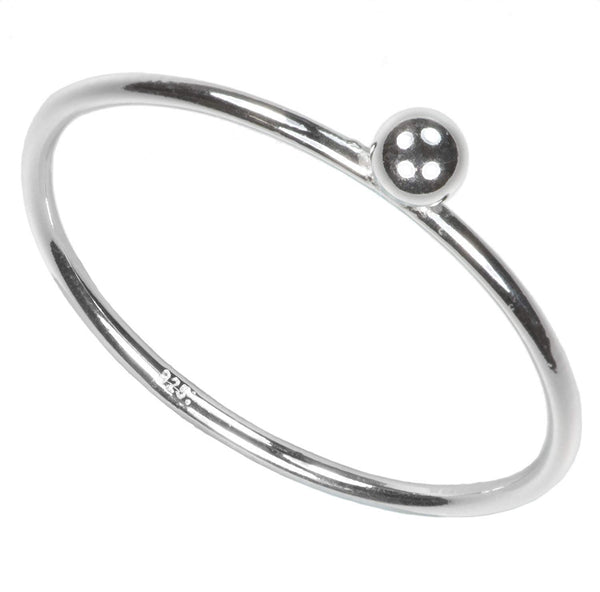 Sterling Silver 3mm Ball Stacking Ring
