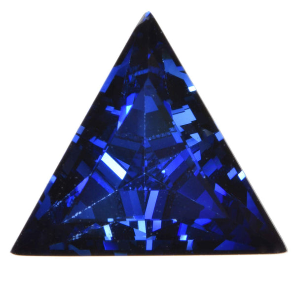 unsetgemstones Blue Synthetic Sapphire Facet Triangle 11mm