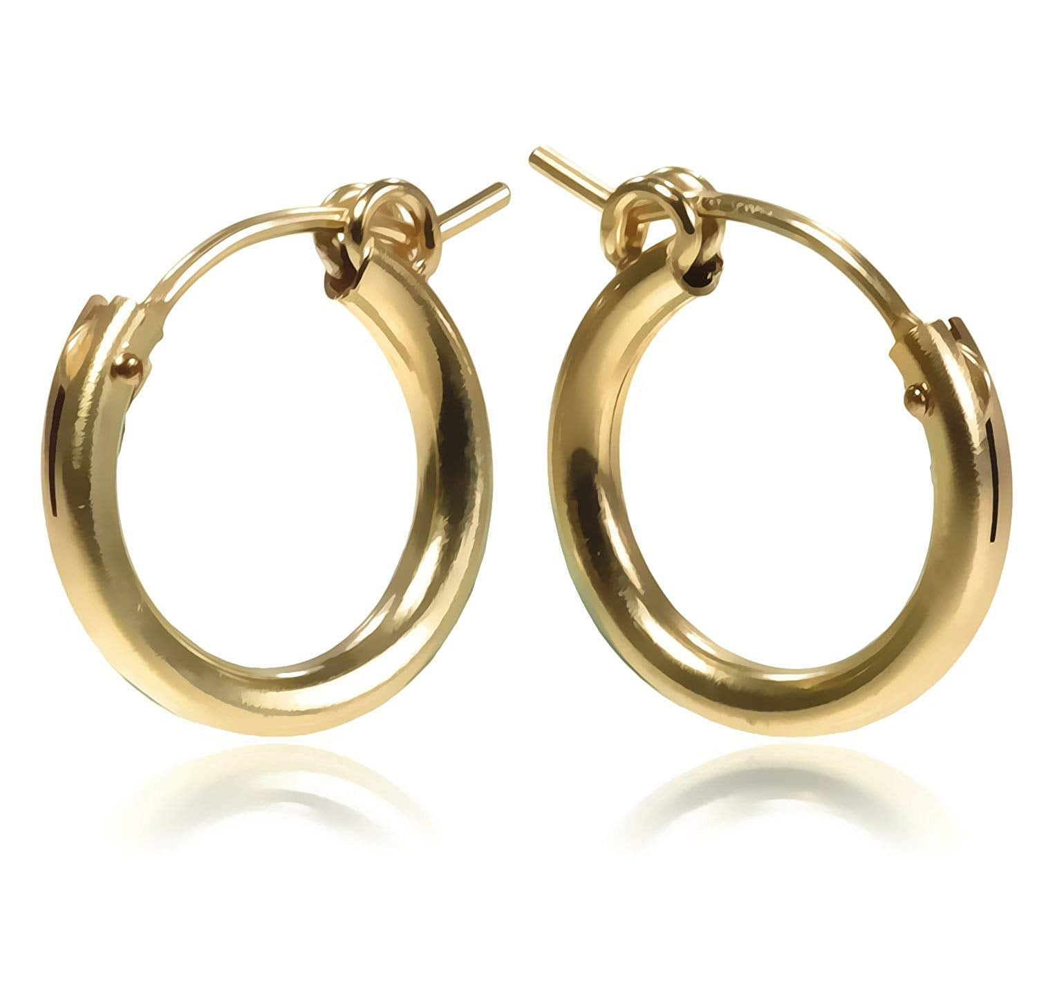 14k Gold Filled 16 x 2mm Tube Hoop Earrings