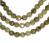 Labradorite Faceted Round Beads Strand Mystic Coated ~4mm