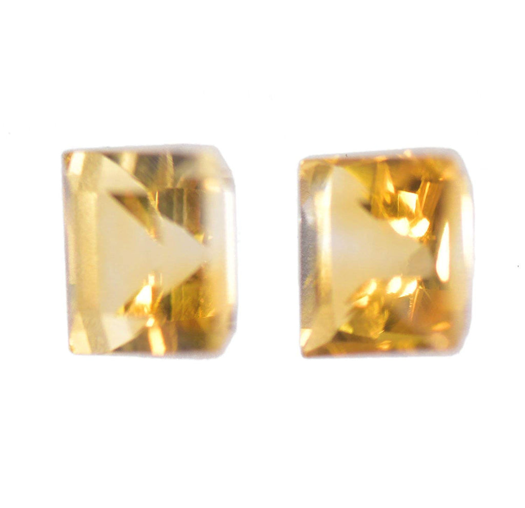 Citrine 5mm Square Faceted Unset Natural Genuine Gems Tiny (2)