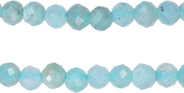 Amazonite 2.25mm Rondelle Facet Strand 12 Inch