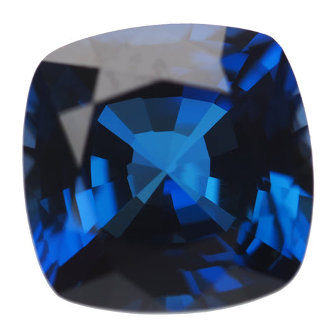 Blue Created Sapphire Square Cushion Facet Gemstone 10mm