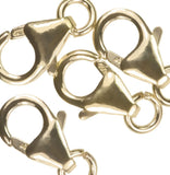 uGems 3 14K Gold Filled Medium Trigger Clasps with Ring 6x10mm