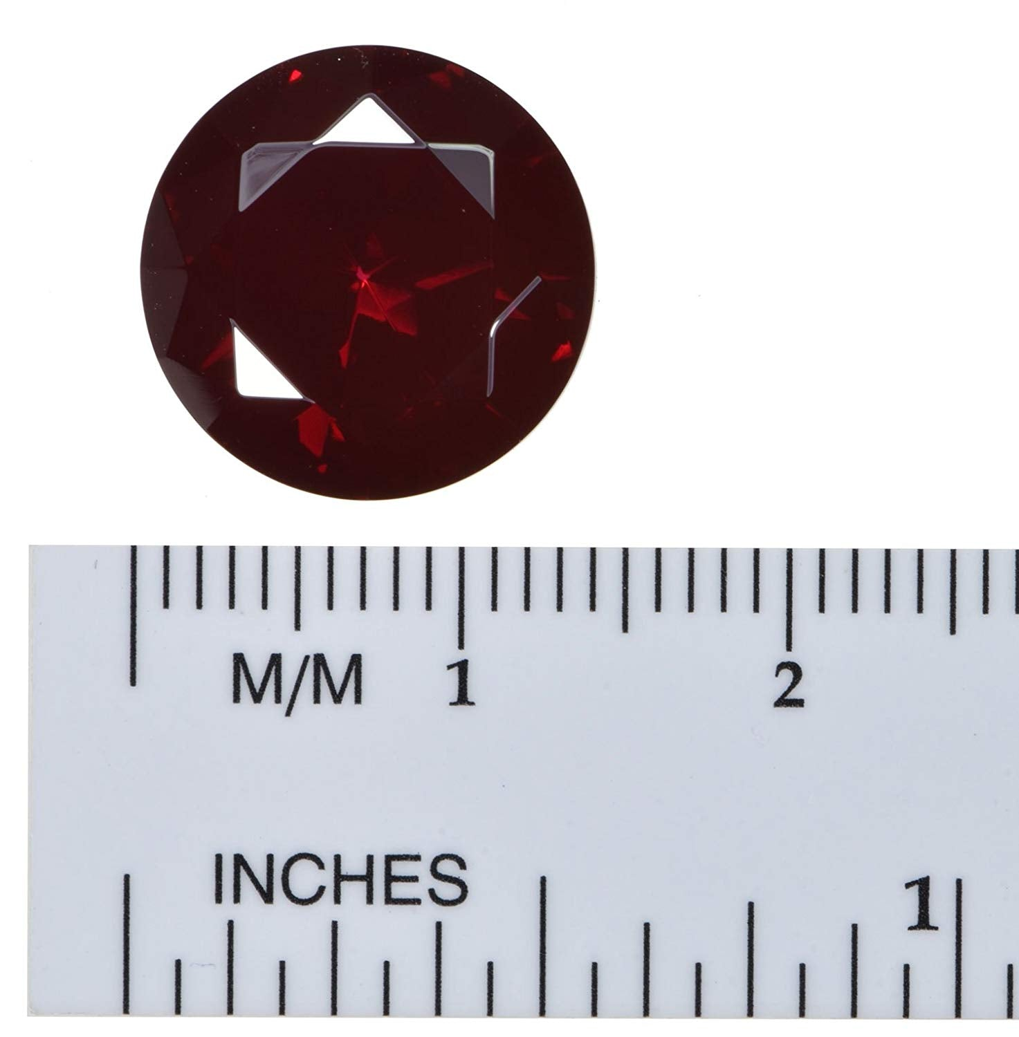 uGems Created Ruby Unset Loose Gem 14mm Round