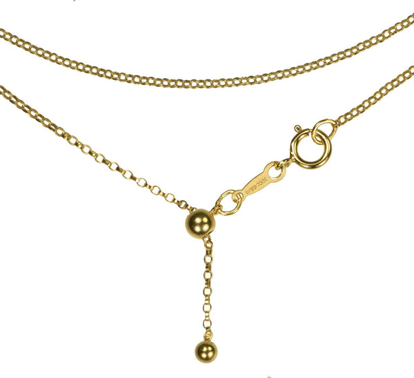 uGems 14K Gold Filled Adjustable Chain Necklace