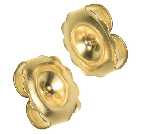 uGems 14K Solid Gold Jumbo Earring Back 10mm 1 Pair