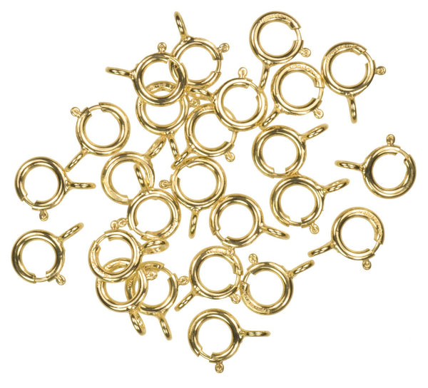 Gold Filled Spring Ring Closed-End H-Finish Assorted Size