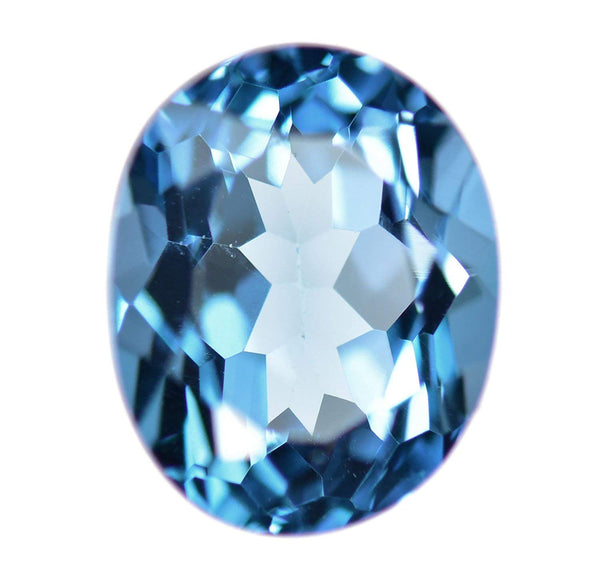 uGems London Blue Topaz Faceted Oval Shape ~10mm x 8mm