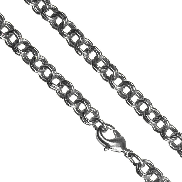 uGems Antique-Tone Steel Chain Necklace 5mm Dbl Cable 20""