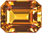 Yellow Created Sapphire  Gemstone Octagon 10mm