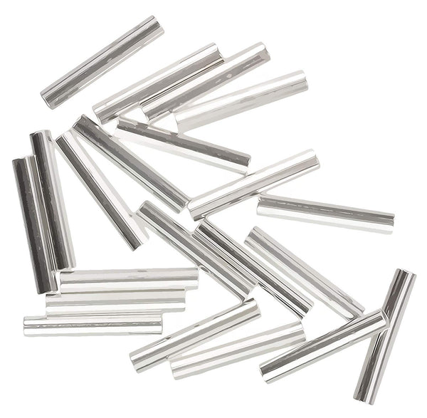9mm x 1.5mm Tube Beads Sterling Silver (Qty=20)
