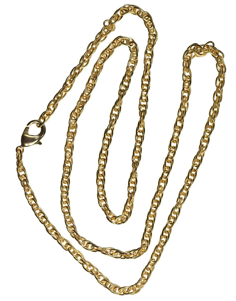 Gold-Tone Steel Chain Necklace 3mm Rope 20""