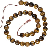uGems Tiger's Eye Micro Facet Bead Strand 12mm