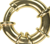 uGems 14K Gold Super Spring Ring Clasp with Figure-8 Connector 16mm