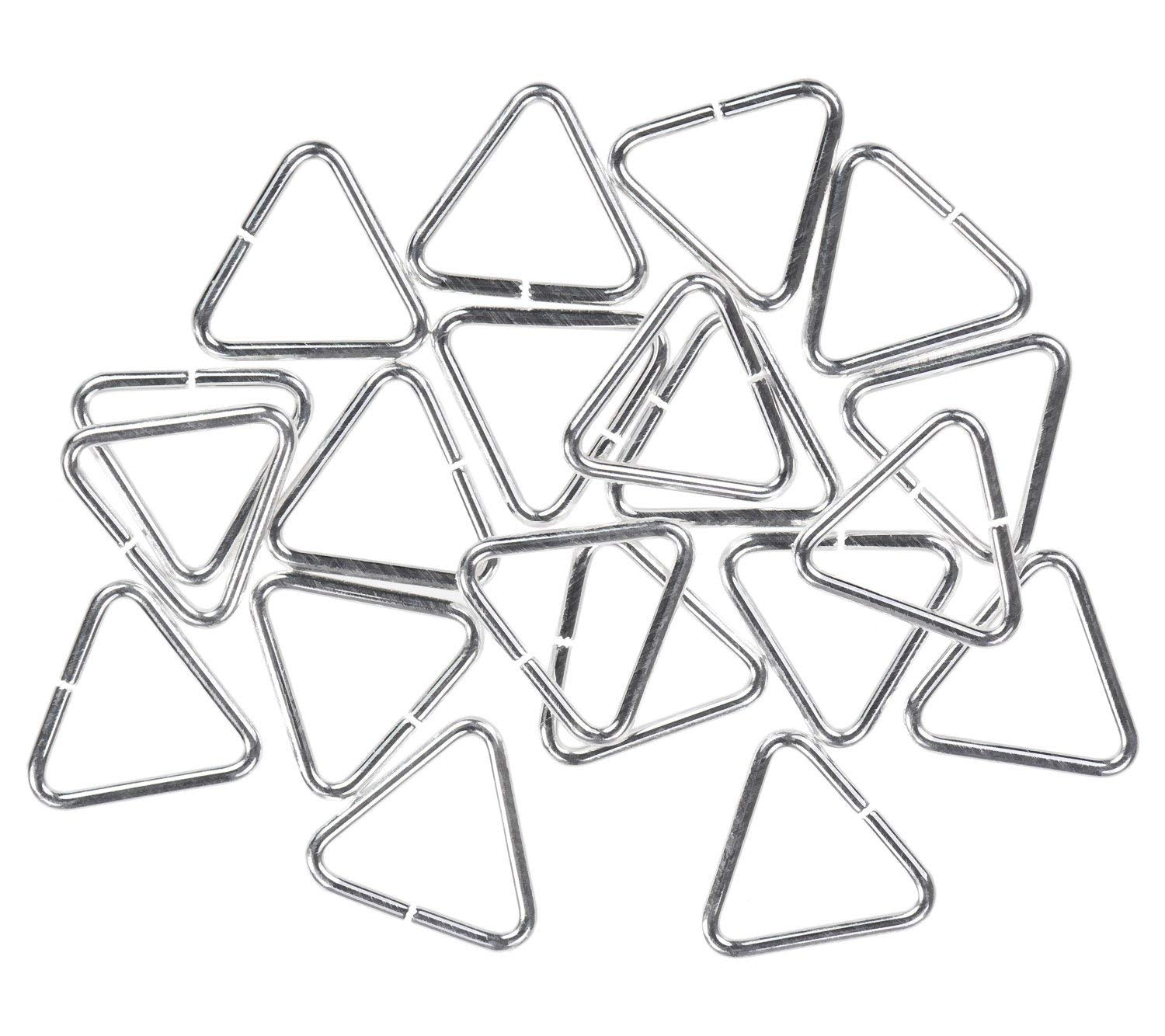20 Sterling Silver Jump Rings Triangle 20ga 7mm Open Ring