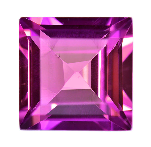 Synthetic Sapphire Princess Cut Purple Blue Over 4 Carats 9mm (1)