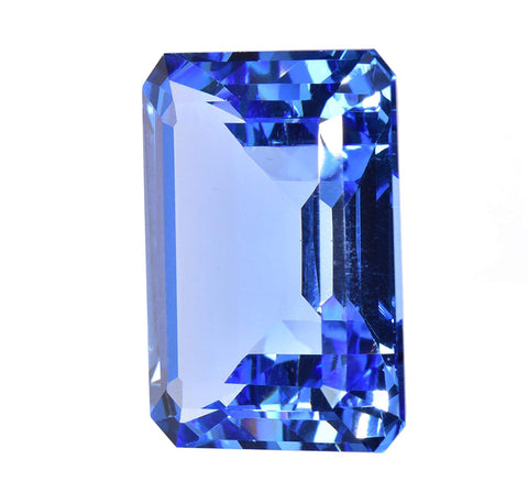 Simulated Blue Topaz Rectangular Loose Facet 23mm
