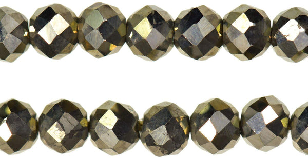 Pyrite Natural 2.5mm Facet Rondelle Beads; tiny 2.5mm siozes; 13 Inch