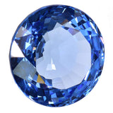 uGems Simulated Blue Topaz Round Brilliant Unsedt Facet 16mm