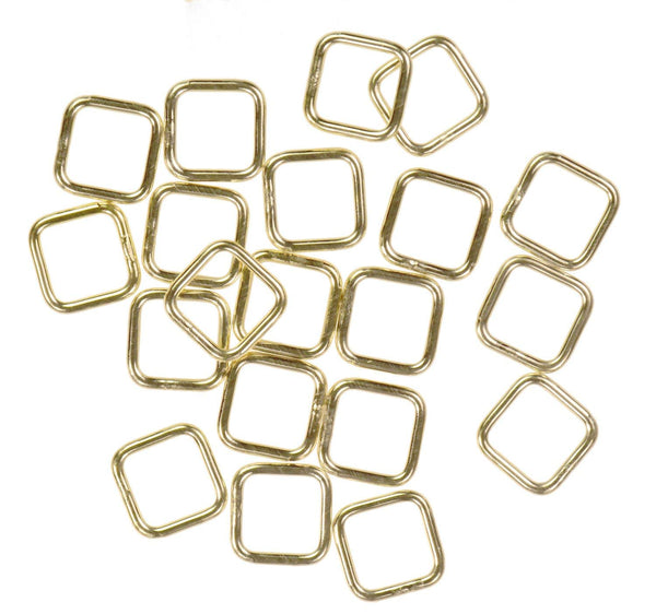 20 14K Gold Filled Jump Ring Square 20ga 6mm Closed Rings