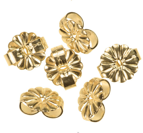 14K Gold Fill Medium Earring Back 6mm 3-Pairs