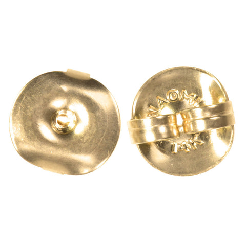 Solid 14K Gold Jumbo Earring Back Clutch Jumbo 8mm 1-pair