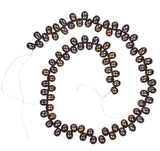 Peacock Freshwater Cultured Pearl Briolette Strand Medium