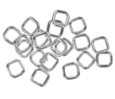 20 Sterling Silver Jump Ring Square 20ga 4mm Closed Rings