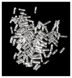 "Sterling Silver Twist Tube Beads 1mm X 4mm .037"" Hole (100)"