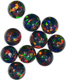 uGems Blue Created Opal Round 8mm Round Beads (1)